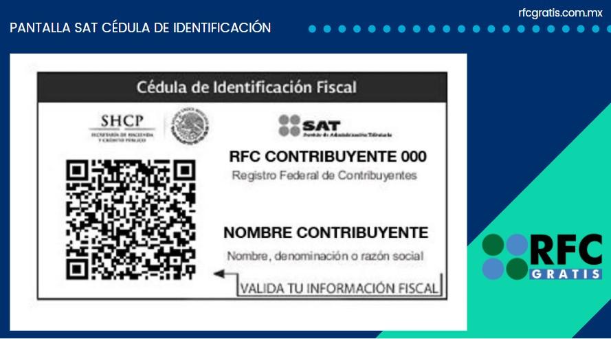 Ejemplo de Cédula de Identificación Fiscal